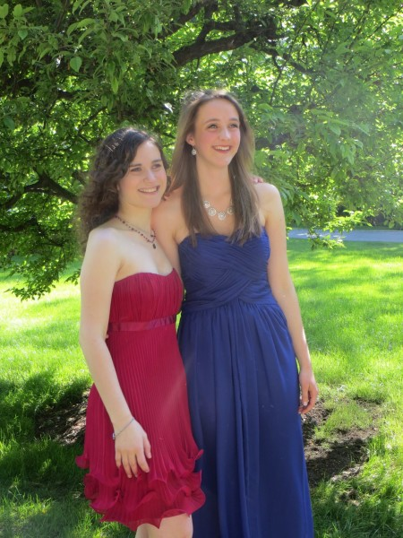 Jessica and Maria at Senior Prom